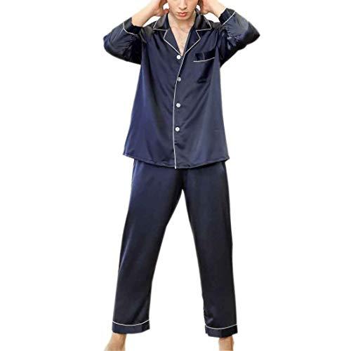 Setoso In Notte Blu Setato Pigiama Cx Navy store Da A Maniche Pezzi Pantaloni Lunghi Uomo Con 2 Lunghe qZCEXZ