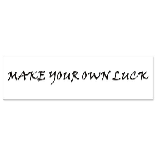 Car Bumper Sticker - Make Your Own - Your Own Make Luck Sticker