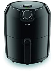 T-Fal Air Fryer, Friteuse, Easy Fry, Low Oil, Patented Basket System, 4.4Qt / 4.2L, EY201850, Black