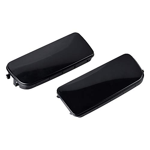 Astra Depot Pair RH+LH Fog Light Lens Hole Covers Cap Replacement with 1992-1998 E36 3-Series (Bmw Fog Lights E36)
