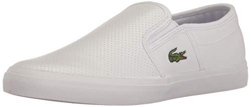Lacoste Men's Gazon BL 1, White, 11 M - Tread Van Cross