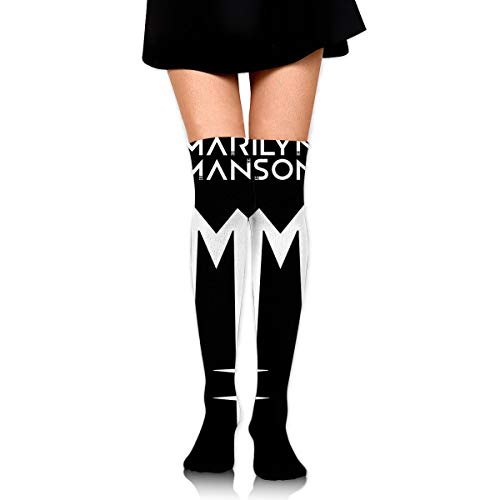 Gordon M Albers Marilyn Manson Unisex One Size Classic Over Knee High Socks 60cm Thigh High Stockings]()