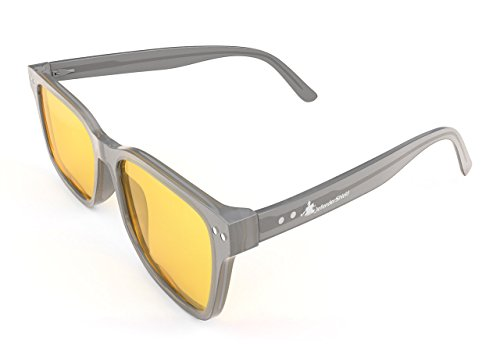 Blue Light Blocking Glasses for Computer & Mobile Devices by DefenderShield - Signature Series (Yellow Filter - 50% Blockage)