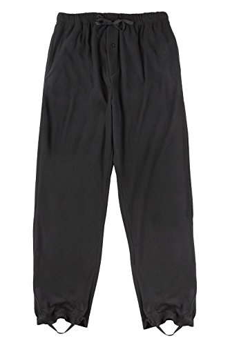 Black Polar Fleece Liner (North 15 Men's Super Soft Polar Fleece Lounge Pants with Wader Liner-1124-Black-Lg)