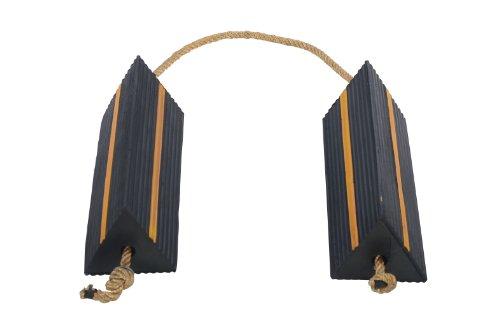 Vestil AC-18 Wheel Chock with Rope, 18'' Width x 5-1/2'' Height x 6'' Depth by Vestil (Image #3)