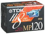TDK 3-Pack 120-Min Hi-8 Tapes (P6120HPS3)
