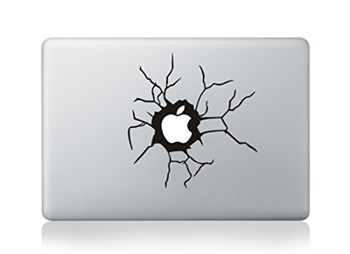 Crack Window Screen Board Broken Glass Shatter Skin Decal Vinyl Apple Macbook