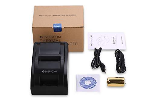 Everycom EC-58 58mm USB Direct Thermal Printer, 2-inch (Black, EC58BLK)