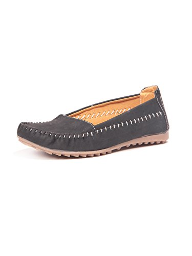 Ten Womens Black Denim Loafers -6.5 UK