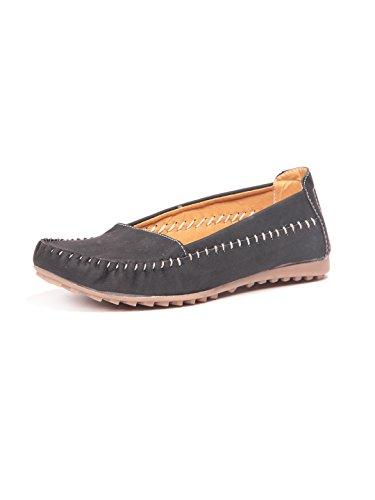 Ten Womens Black Denim Loafers -6.5 UK