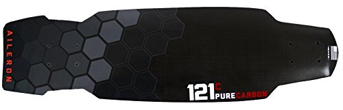 Fiber Skateboard Longboard - 121C Boards Aileron Carbon Fiber Skate Cruiser Board - Standard Flex Deck Only (Technical Hexagon)