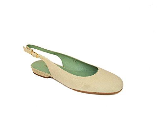 Chiaro Piatte Donna Tallone da GENNIA Aperto Verde e Ballerine Carling ZwpqAa1xPf