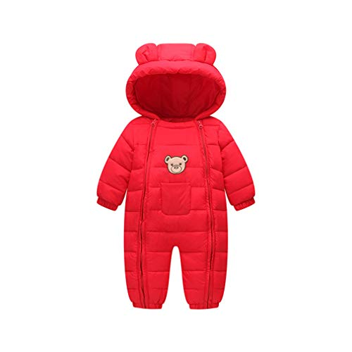 3039babf2284 Ohrwurm Baby Lightweigt Quilted Cotton Paded One Piece Puffer Down Jacket  Coat for 18-24 Month Girls Boys Baby Soft Silky Lined Winter Warm