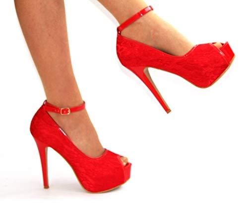 Bride Box Red Cheville Shoe Boutique Femme wEdqBBZ