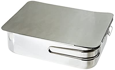 """ExcelSteel Stainless Steel Stovetop Smoker, 14 1/2"""" X 10 1/2"""" X 4"""", Silver"""