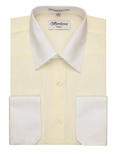 ivory dress shirt with french cuffs - 9