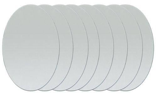 """Oval Glass Mirror 1""""X3/4""""-8/Pkg"""