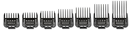 Andis 7pc Snap-On Blade Attachment Comb Set, Black (01380)