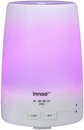 Innoo Tech Essential Oil Diffuser 300ml   The 3rd Version Aromatherapy Diffuser & Humidifier Cool Mist   Long Lasting with 4 Timer Settings & 7 Color LED Lights for Bedroom, SPA, Office