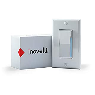 Inovelli ZWave Dimmer Switch (Red Series) | No Neutral Required | Energy Monitoring, Repeater, 3-Way Smart Switch Technology, LED RGB Notifications, Signal Indicator | Z-Wave Plus w/S2