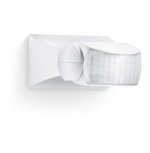 Steinel Bewegungsmelder IS 1 weiß für den Außenbereich, 120° Passiv-Infrarot Bewegungssensor mit max. 10 m Reichweite, Auf- und Unterputz, IP 54 (spritzwassergeschützt), 600310