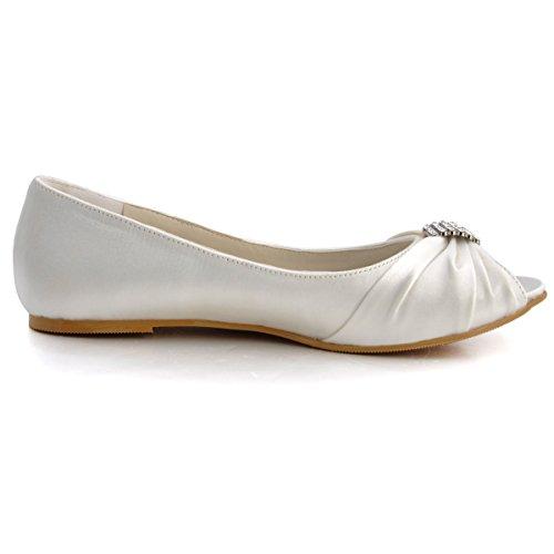 ElegantPark EP2053 Women Peep Toe Rhinestones Comfort