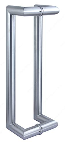 RICHELIEU HARDWARE - Offset Round Tubular Handle with Decorative Ring and 90° Corners - 701DHO2R1001170 - Stainless Steel