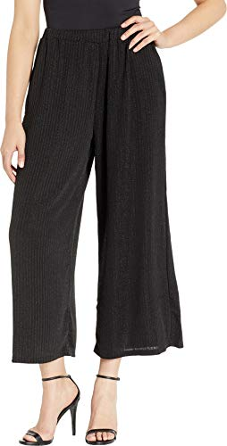 MINKPINK Women's Metallic Stripe Culottes Black X-Small 26