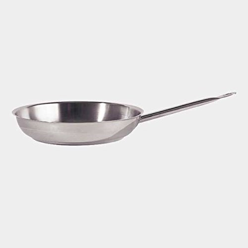De Buyer Professional 32 cm Stainless Steel Appety Frying Pan with Oval Tube Handle 3451.32N by de Buyer Professional