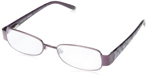- Foster Grant Crystal Vision Sugar Plum Oval Reading Glasses,Purple,2