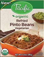 Pacific Natural Foods Organic Refried Pinto Beans Vegetarian -- 13.6 oz by Pacific Natural Foods