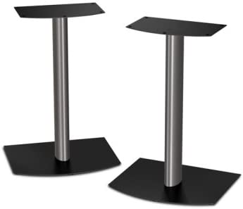 Bose FS-1 Bookshelf Speaker Floor Stands pair – Black and Silver
