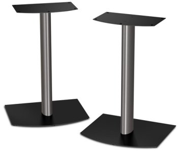 Bose FS-1 Bookshelf Speaker Floor Stands (pair) - Black and Silver by Bose