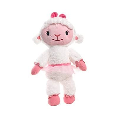 """Disney Junior Doc McStuffins Toy Hospital Lambie 8.5"""" Soft Plush Toy Doll Doll Figure. Made by Just Play.: Toys & Games"""