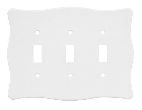 Triple Scallop - 64608 White Nylon Scallop Single Triple Wall Cover Plate