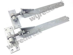 Wyre Direct Adjustable Gate Hinges Pair 400mm 16 Galvanised Heavy Duty Hook And Band Stable by Wyre Direct