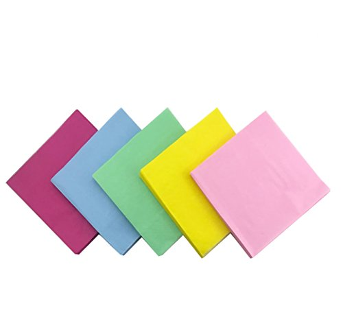 UPlama 5 colors 100Pcs Beverage Paper Napkins,2-Ply Paper Luncheon Napkins,12.8