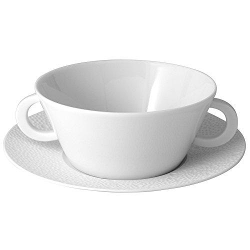 Bernardaud Ecume White Cream Soup Cup