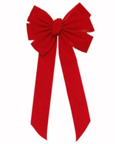 (Red Velvet Ribbon Bows [7347])