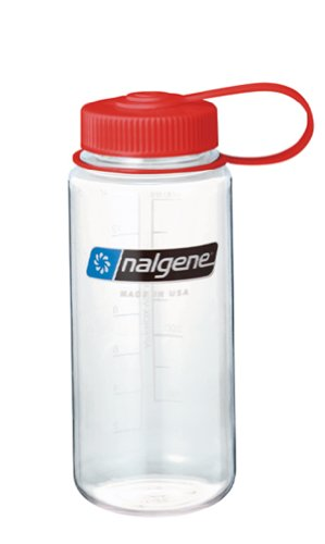 Nalgene Wide Mouth Bottle (Clear, 1-Pint)