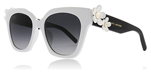 Marc Jacobs Women's Daisy Sunglasses, White Black/Dark Grey Gradient, One Size by Marc Jacobs