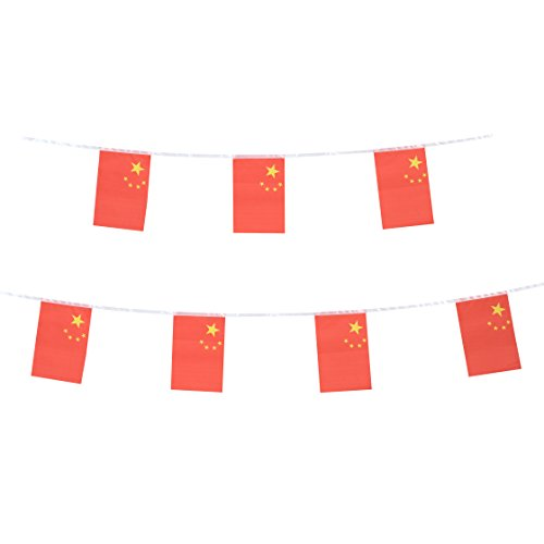 China Flag Tsmd 100 Feet Chinese Flag National Country World Pennant Flags Banner Party Decorations For Grand Opening Olympics Bar School Sports Events Restaurants International Festival Celebration
