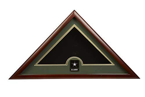 (Allied Frame US Go Army Interment American Burial Flag Display Case with Official Go Army Medallion)