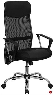 Brato High Back Mesh Leather Swivel Chair