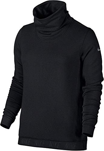 Nike Dry Top Cowl Neck Long Sleeve Women's Training Sweatshirt (M, Black/White)