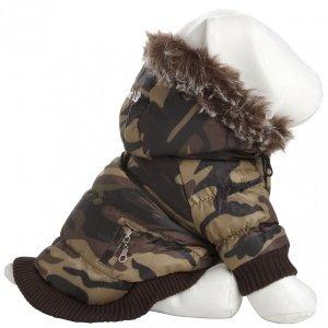 Dog Ski Coat - Pet Life Metallic Dog Parka Large Camouflage