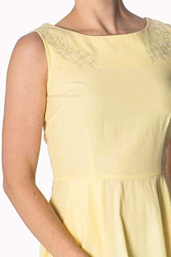 Kleid Plus Vintage Banned Gelb Floral Retro Tage Größe BaOOH8