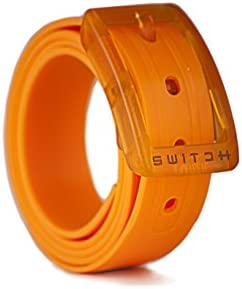 Switch Belt Atomic Orange Cut-to-Fit, Waterproof Belt- Interchangeable Belts and Buckles - Premium Golf & Active Lifestyle Apparel Style and Practicality - Recycled Material.
