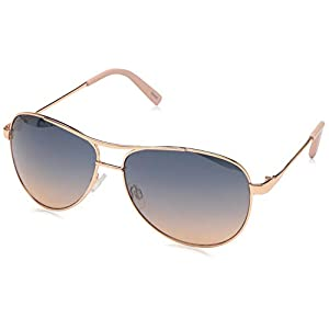 Jessica Simpson Women's J106 Stylish UV Protective Metal Aviator Sunglasses | Wear All-Year | The Gift of Glam, 60 mm