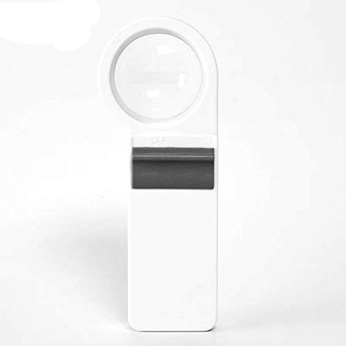 Carl Artbay Personal aids 8X Handheld Illuminated Magnifying Glass Aspheric Lens LED White Light Lens Hd Reading Hobbies Jewelry Maps Crafts Jewelry Magnifier Loupe